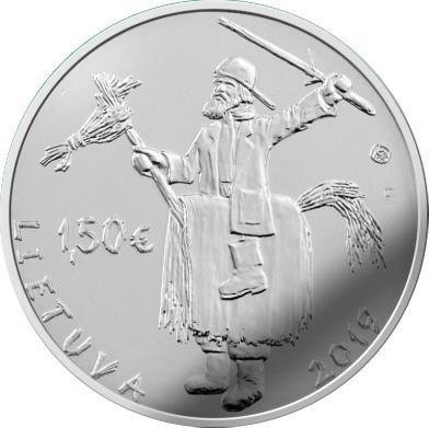 Lithuania 1,50 EURO 2019 Užgavėnės  Traditional Celebrations UNC CU-NI coin