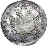 24 Kopecks - Elizaveta (Novodel; ¼ Rouble obverse die) – reverse