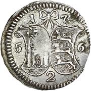 2 Kopecks - Elizaveta (Novodel; 4 Kopeck obverse die; silver) – reverse