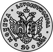 24 Kopecks - Elizaveta (Novodel; 5 Rouble obverse die) – reverse