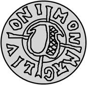 1 Pfennig - Wolter von Plettenberg & Jasper Linde (Riga; one shield; bumpy bottom) – obverse