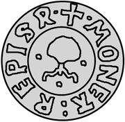 1 Pfennig - Wolter von Plettenberg & Jasper Linde (Riga; one shield; bumpy bottom) – reverse