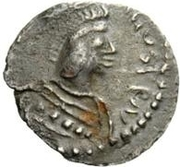 ¼ Siliqua - In the name of Justinian I, 527-565 (With stars; helmet-hair) – obverse