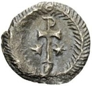 ¼ Siliqua - In the name of Justinian I, 527-565 (With stars; helmet-hair) – reverse
