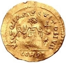 1 Tremissis - In the name of Justinian I, 527-565 (Parallel tassels) – reverse