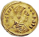 1 Tremissis - In the name of Justin II, 565-574 (Victory facing right; without star) – obverse