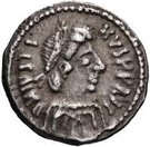 ¼ Siliqua - In the name of Justin II, 565-574 (Closed staurogram without dot below) – obverse
