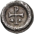 ¼ Siliqua - In the name of Justin II, 565-574 (Closed staurogram without dot below) – reverse