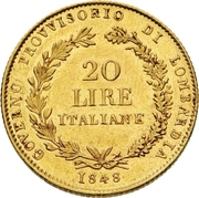 20 Lire – reverse