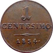 1 Centesimo - Franz I – reverse