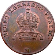 5 Centesimi - Franz I – obverse