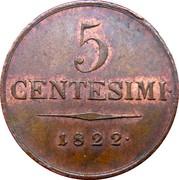 5 Centesimi - Franz I – reverse