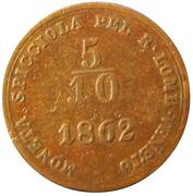5/10 Soldo - Franz Joseph I – reverse