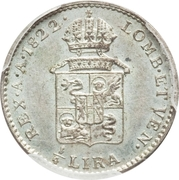¼ Lira - Franz I – reverse