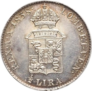 ½ Lira - Ferdinand I – reverse