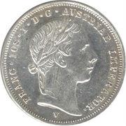 ½ Lira - Franz Joseph I – obverse