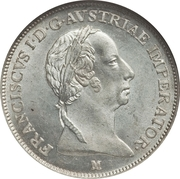 1 Lira - Franz I – obverse