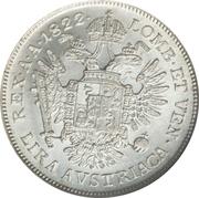 1 Lira - Franz I – reverse
