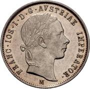 1 Lira - Franz Joseph I – obverse