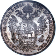 ½ Scudo - Franz I – reverse
