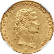 ½ Sovrano - Franz I – obverse