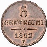 5 Centesimi - Franz Joseph I – reverse