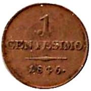 1 Centesimo - Ferdinand I – reverse