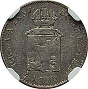 ¼ Lira - Ferdinand I – reverse