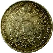 ½ Scudo - Franz Joseph I – reverse