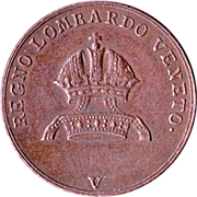 3 Centesimi - Ferdinand I – obverse