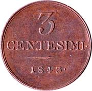 3 Centesimi - Ferdinand I – reverse