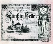 50 Heller (Loosdorf; Green reverse) – obverse