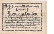 20 Heller (Loosdorf) – reverse