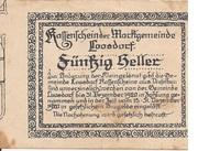 50 Heller (Loosdorf) – reverse