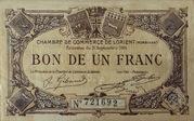 1 Franc Chambre de Commerce de Lorient – obverse
