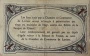 1 Franc Chambre de Commerce de Lorient – reverse