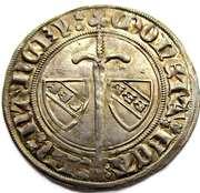 Gros Jean I  1348-1389 – reverse