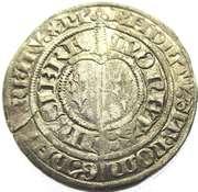 Gros Charles II  1390-1431 – reverse