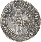 Groschen - Charles II (shield and alerions) – obverse