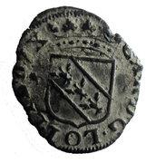 Liard au 2 C enlacés  Charles IV – obverse