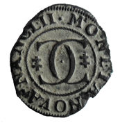 Liard au 2 C enlacés  Charles IV – reverse