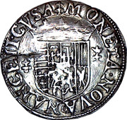 ¼ Teston - Charles III (old bust and flat collar, undated) – reverse