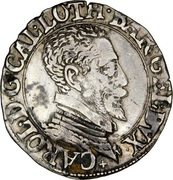 ¼ Teston - Charles III (old bust and flat collar, dated) – obverse