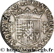 ¼ Teston - Charles III (old bust and flat collar, dated) – reverse