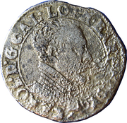 Teston - Charles III (old bust, flat collar, withour cross of Lorraine, undated) – obverse