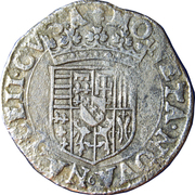 Teston - Charles III (old bust, flat collar, withour cross of Lorraine, undated) – reverse