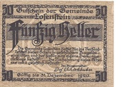 50 Heller (Losenstein) -  reverse