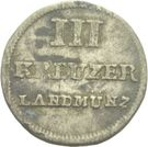 3 Kreuzer (Joint Coinage - Type 3 Arms) – reverse