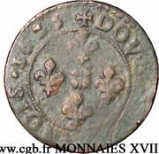 1 Double Tournois, 2 Deniers - Johann Theodor (Type 2) – reverse