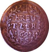 1 Kreuzer - Maximilian Karl – reverse